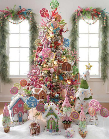 Candy themed christmas tree ideas dot com women