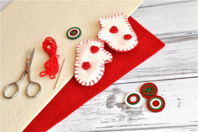 How to Make Felt Ornaments for Christmas