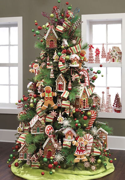 Candy themed christmas tree ideas dot com women - Arbol de navidad decorado ...