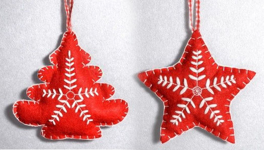 How to make Christmas Felt Ornaments
