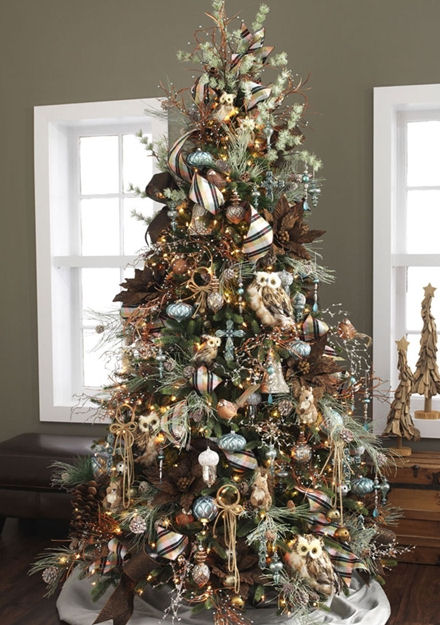 Rustic Theme Christmas Tree - Christmas Tree Themes & Color ...