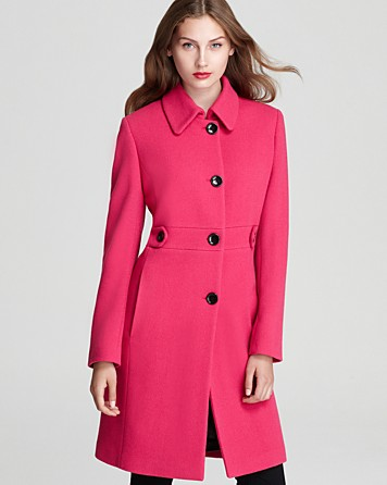 Calvin Klein Lady Coat in Shocking Pink