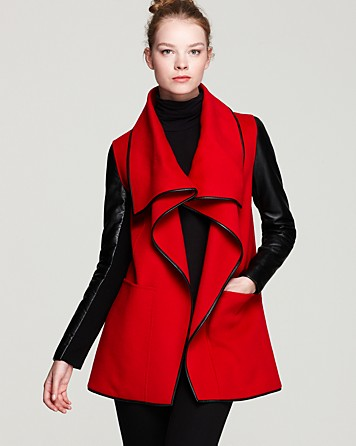 Mackage Boa Drape Front Coat 2013 Trends