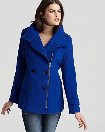 Marc New York Double Breasted Jacket in Cobalt Blue