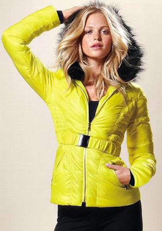 Victoria's Secret Puffer Jack in Bright Citrine