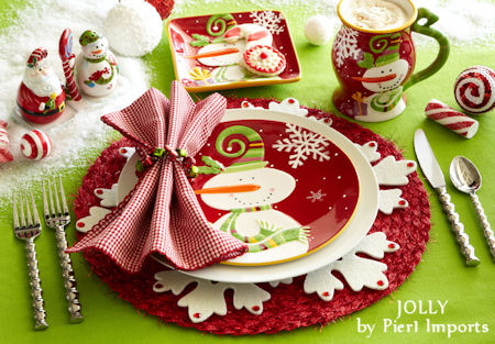 A Bright and Merry Christmas Table Decoration for Kids
