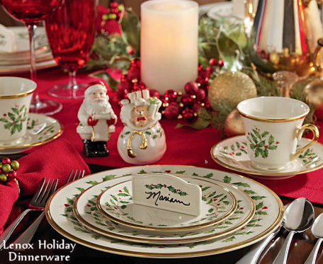 Lenox Holiday Dinnerware Christmas Table Setting