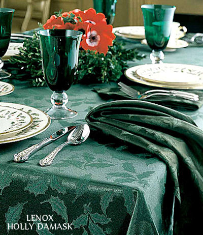 Green Christmas Table Decorations
