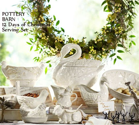 12 Days of Christmas Serving Set from Pottery Barn