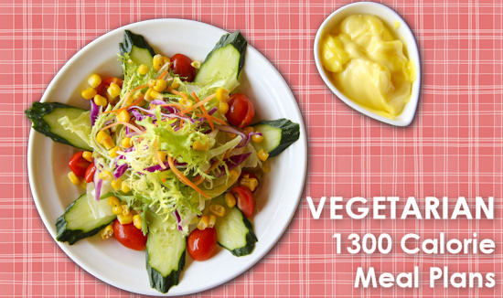 Vegetarian 1300 Calorie Meal Plans